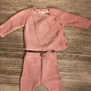 Zara Baby Sweater and Footed Leggings